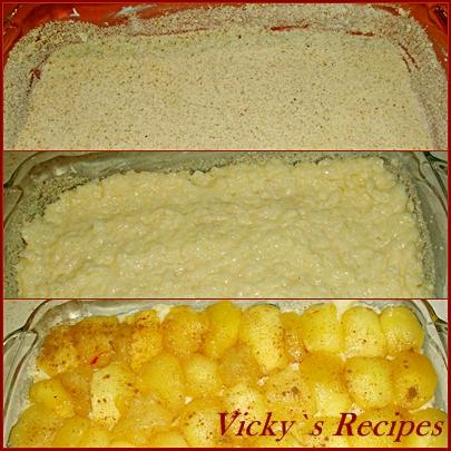 Budinca de orez cu mere 5