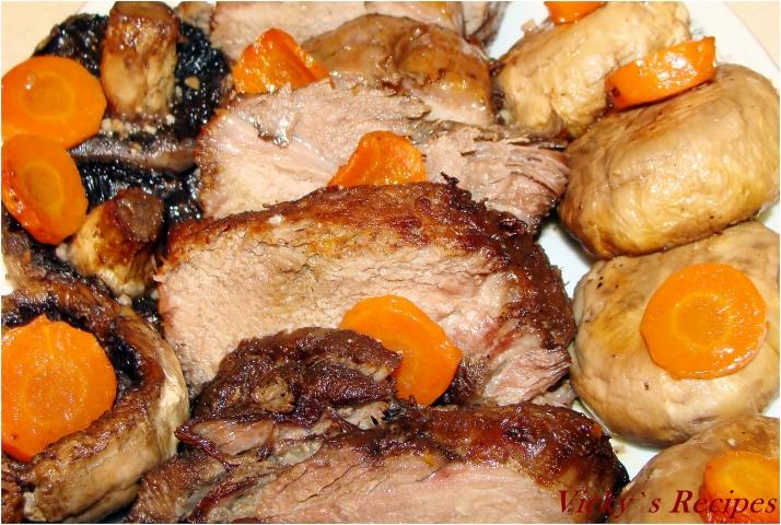 Friptură de porc mistreț la cuptor