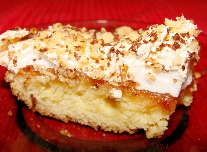 Prăjitură cu gem (de caise) și bezea