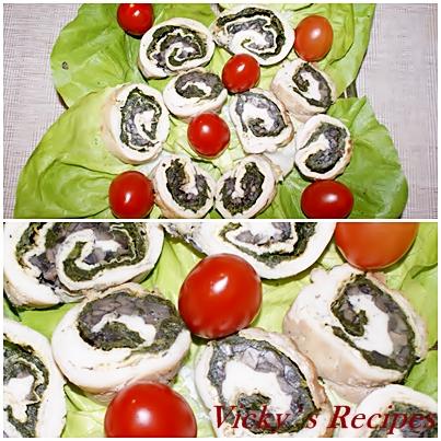 Rulouri de pui cu spanac si ciuperci 10