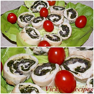 Rulouri de pui cu spanac si ciuperci 9