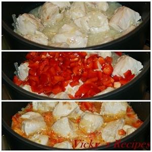 Mancare de mazare cu carne de pui 4