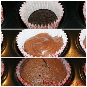Cupcakes cu biscuiti Oreo 9