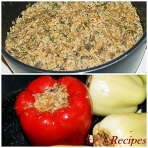 Ardei umpluti cu orez si ciuperci 2