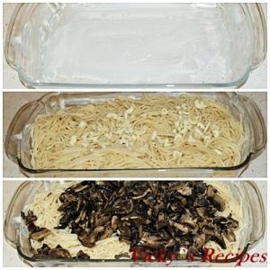 Ciuperci cu paste la cuptor 1