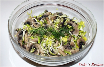 Salata de ciuperci si praz