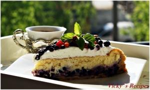 Tartă/Cheesecake cu afine