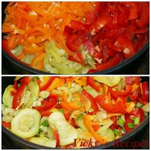 Penne colorate cu legume 4