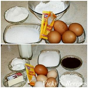 Prajitura cu crema de ness si sos caramel