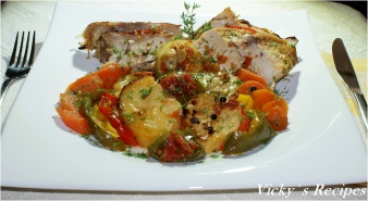 Carne de curcan cu legume la cuptor