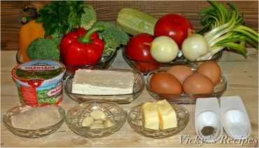 Budincă țărănească cu legume și brânză