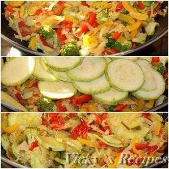 Budinca taraneasca cu legume si branza 4