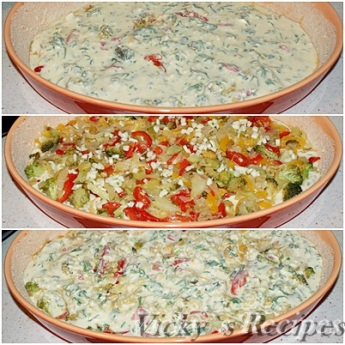 Budinca taraneasca cu legume si branza 7