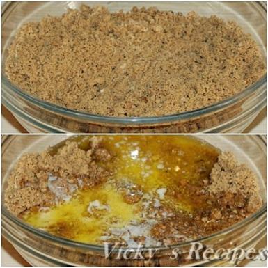 Cheesecake cu mascarpone, fructe de padure si caramel 2