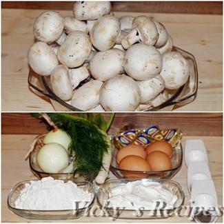 Budinca aperitiv cu ciuperci 1