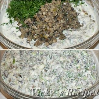 Budinca aperitiv cu ciuperci 7
