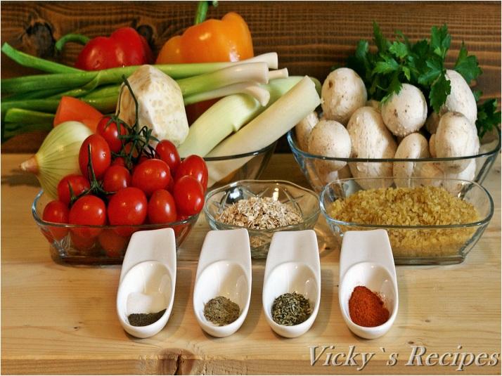 Gulii umplute cu bulgur și legume (de post)