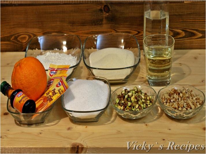Prăjitură de post cu griș și arome orientale