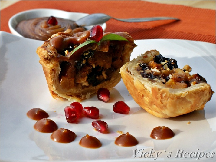 Tarte cu dovleac și gutuie caramelizate