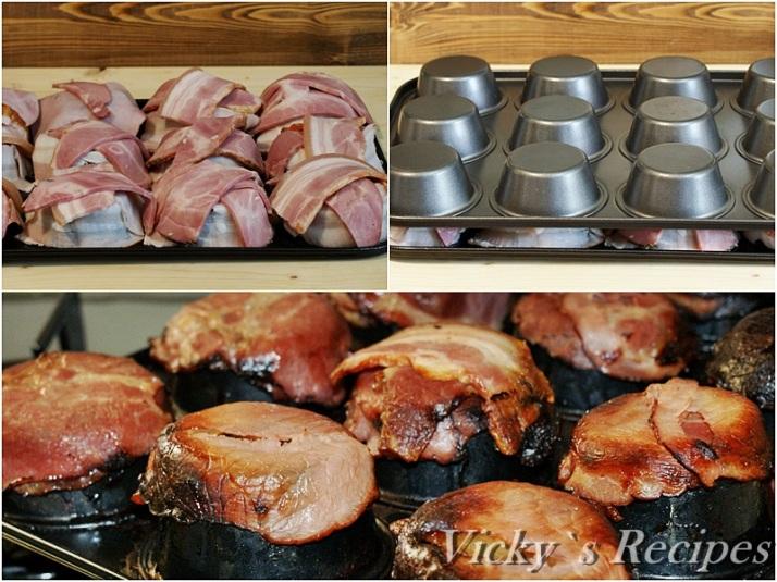 Cosulete aperitiv din bacon cu salata de fasole boabe si maioneza3