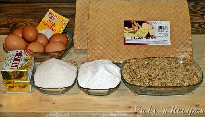 Prăjitură cu foi Lica( foi napolitane)