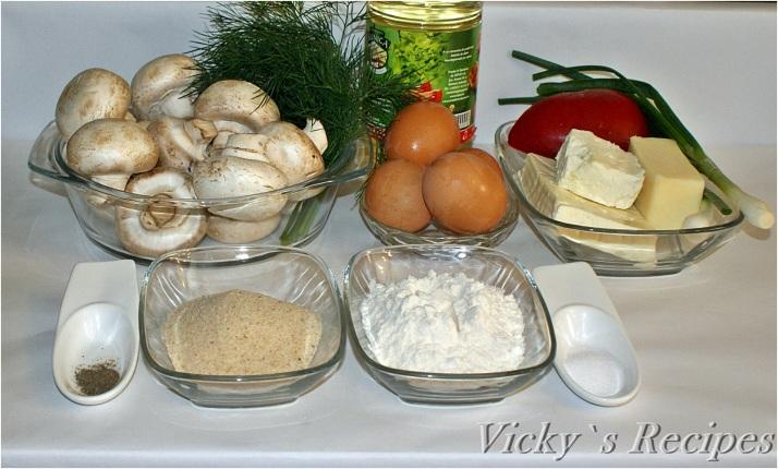 Ciuperci pane umplute cu cremă de brânză