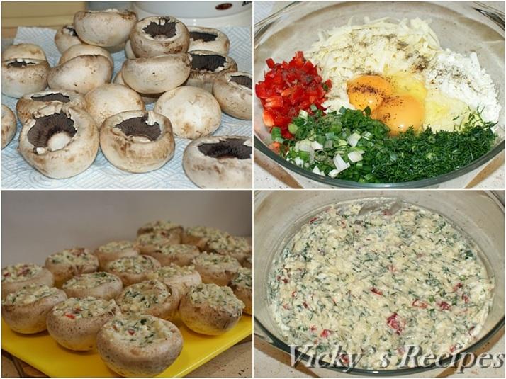 Ciuperci pane umplute cu crema de branza2