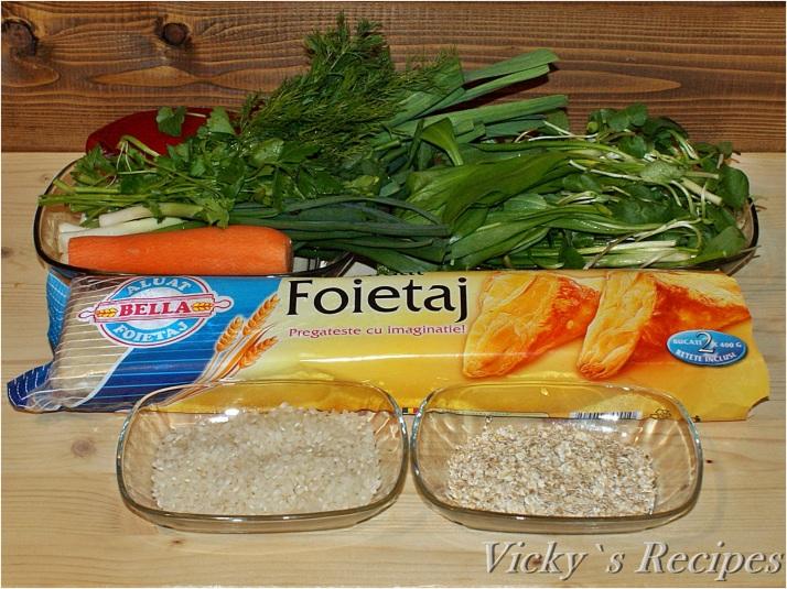 Plăcintă cu leurdă și orez