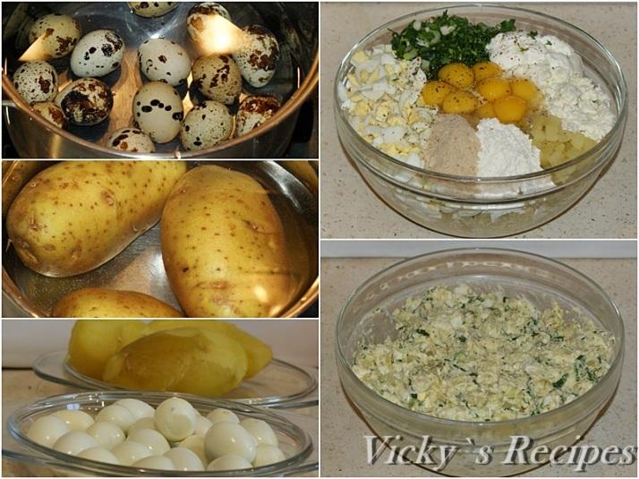Chiftelute de cartofi cu oua de prepelita si branza2