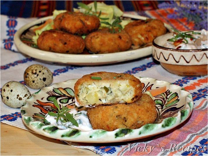 Chifteluțe de cartofi cu ouă de prepeliță și brânză
