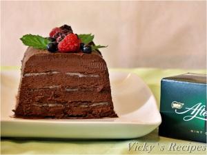 Marquise de ciocolată cu mentă