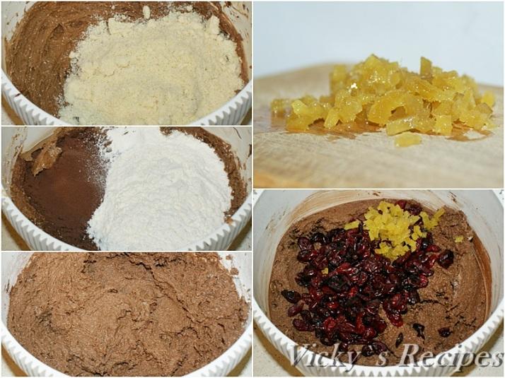 Prajitura cu ciocolata, merisoare si ghimbir4a
