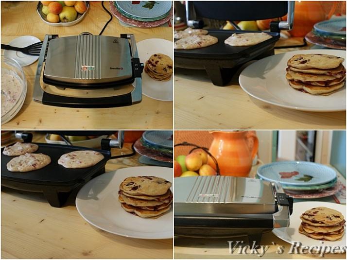 Pancakes cu zmeura si migdale3a