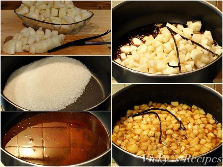 Prajitura cu mousse de caramel si pere caramelizate4