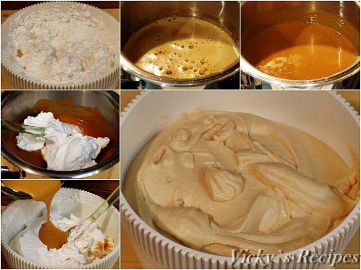 Prajitura cu mousse de caramel si pere caramelizate7a