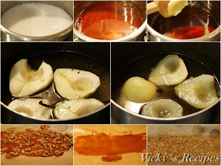 Prajitura cu mousse de caramel si pere caramelizate9
