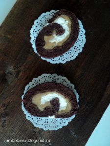 5.Zambetania- rulada cu crema caramel