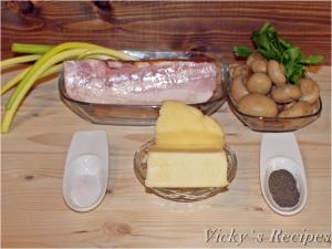 Quiche cu bacon, cașcaval și ciuperci