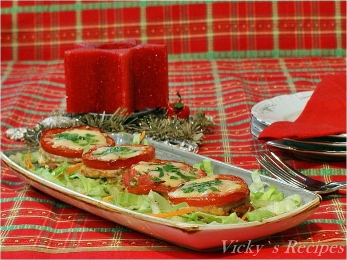 Gustare caldă cu carne și roșii