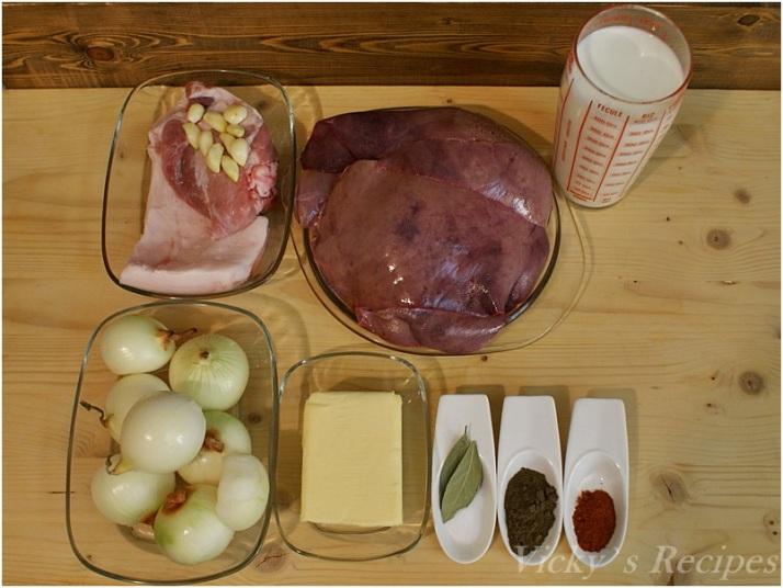 Pate de casă din ficat de porc