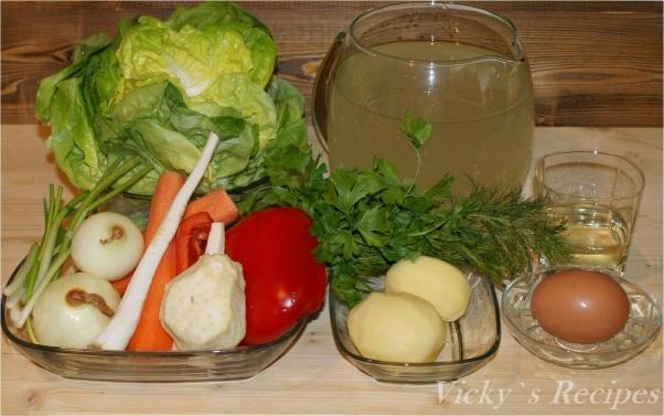 Ciorbă de salată verde cu zeamă de varză
