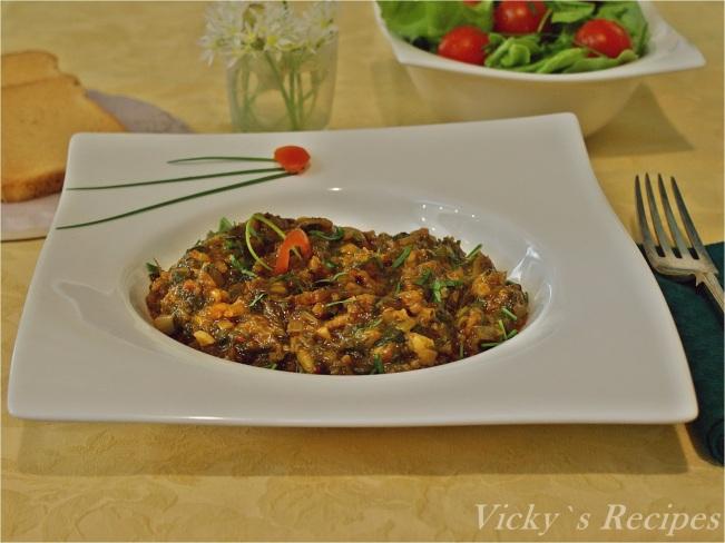 Mâncare de ștevie cu orez și leurdă