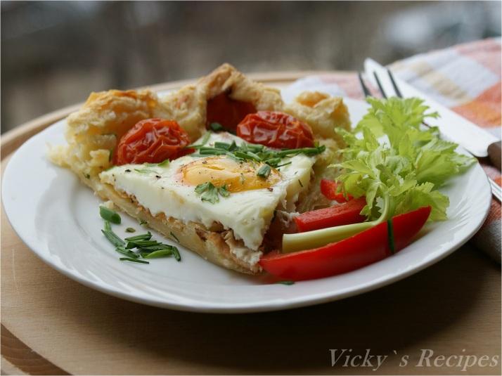 Tartă cu ouă pentru micul dejun