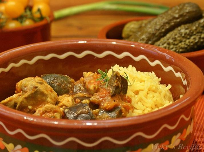 Curry de pui cu vinete